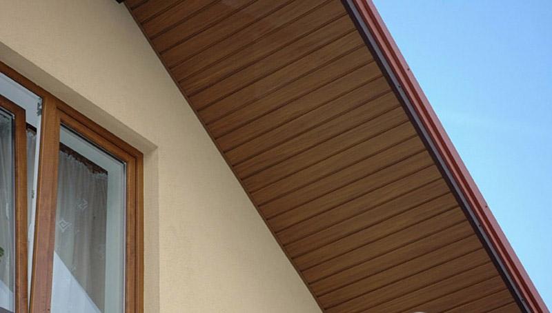 Подшивка фронтона крыши